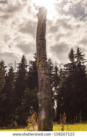 Totem - stock photo