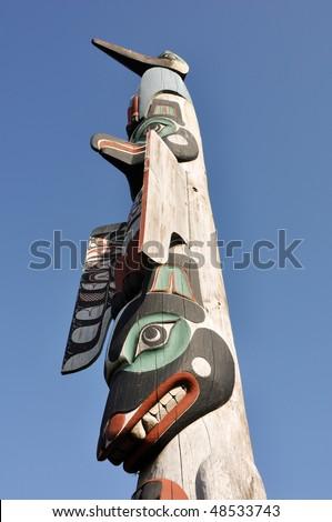 totem rising to the sky - stock photo