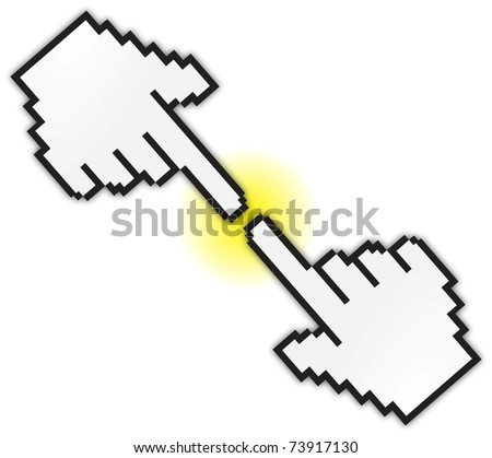 touch hand cursor - stock photo