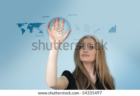 Touch interface - Future collection - stock photo