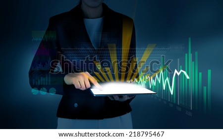 Touch Screen Chart - stock photo