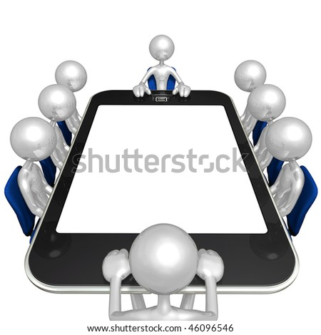 Touch Screen Meeting - stock photo