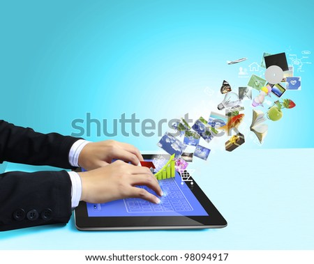 touch tablet concept - stock photo
