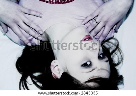 touching - stock photo