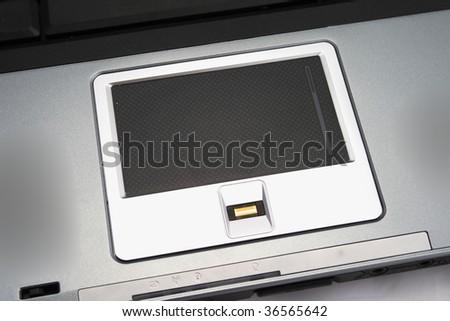touchpad on laptop - stock photo