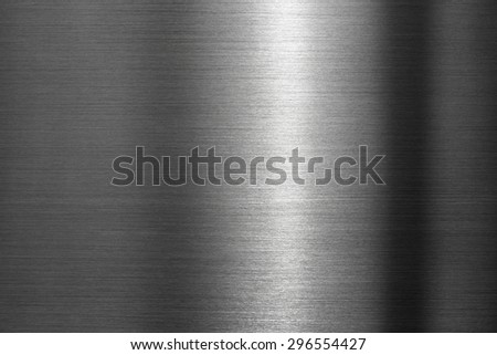 Tough metal. Brushed metal with hard reflection.  - stock photo