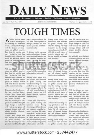 Tough times headline - stock photo