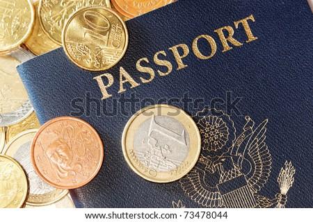 tourism concept to european union from united states - stock photo