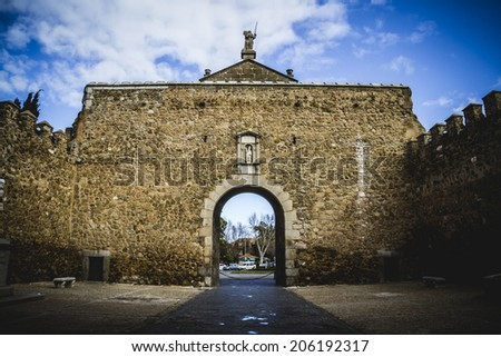 Tourism, Toledo, most famous city in spain - stock photo