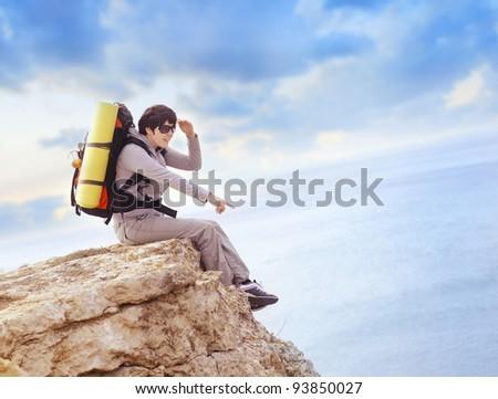 tourist - stock photo