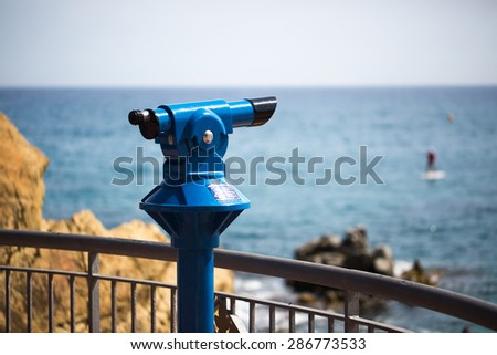 Tourist binoculars photo for you - stock photo