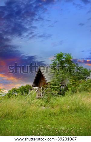 Tourist Cabin - stock photo