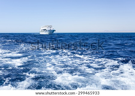 Tourist cruise boat in Red Sea in Egypt. - stock photo