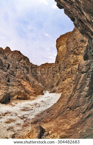 Tourist Scenic route in the rock wilderness. Red Sea, Israel - stock photo