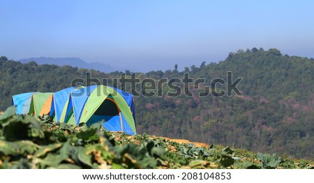 Tourist tent camp in Thailand  - stock photo