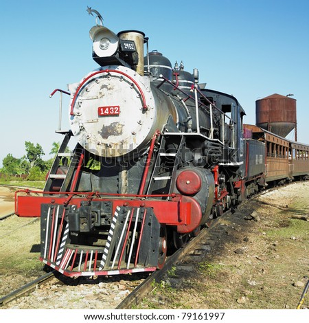 tourist train Valle de Los Ingenios, Trinidad, Sancti Spiritus Province, Cuba - stock photo