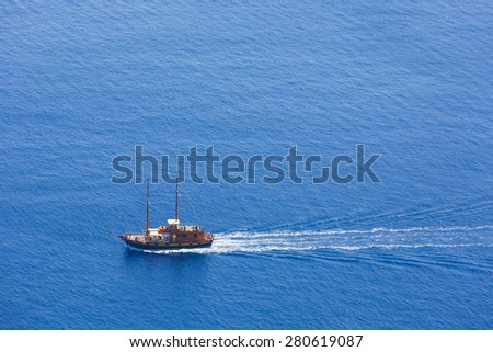 touristic boat  - stock photo