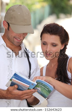 Tourists in Summer - stock photo