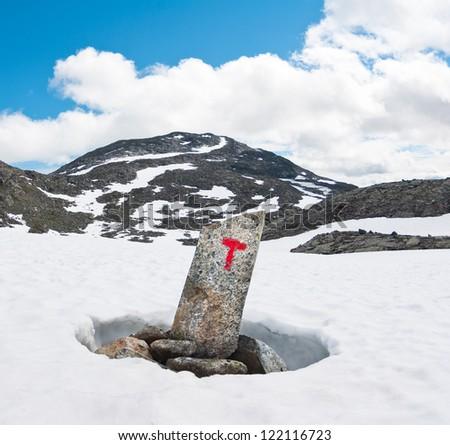 tourists landmark in Norway - stock photo