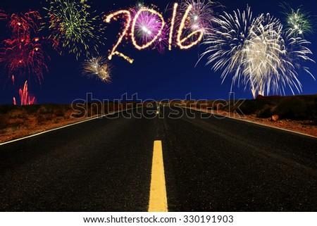 Towards New Year 2016 - stock photo