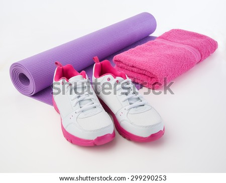 Towel for sweat to hydrate after workout sweat - stock photo