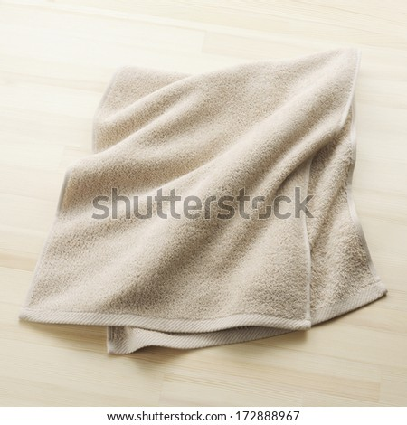 towel on floor - stock photo