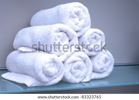 Towel Stack - stock photo