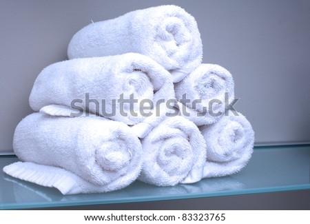 Towel Stack - stock photo