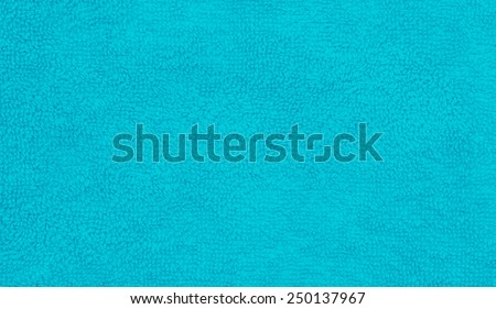 Towel texture background in blue - stock photo
