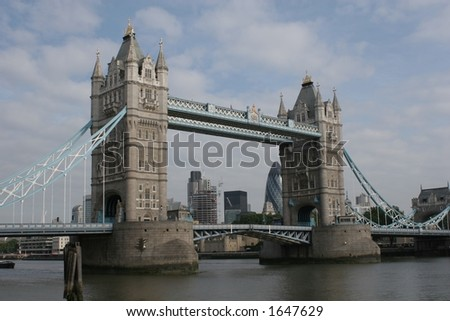 Tower Bridge - also available portrait format - stock photo