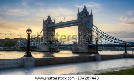 Tower Bridge HDR - stock photo