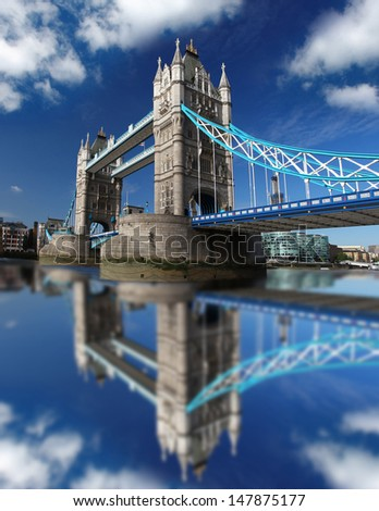Tower Bridge in London, England - stock photo