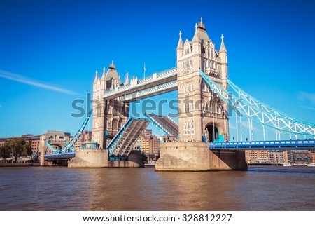 Tower Bridge in London,Uk. - stock photo