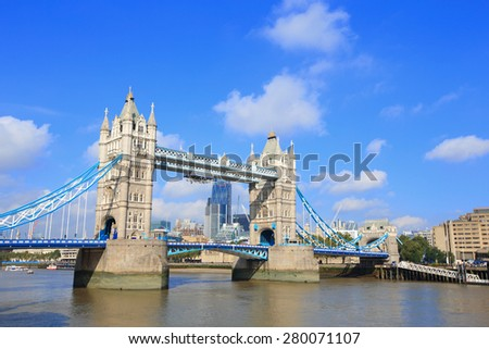Tower Bridge in London, United Kingdom, uk - stock photo