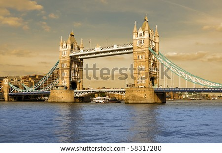 Tower bridge London - historical monument - stock photo