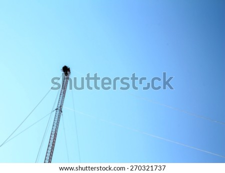 Tower climber  in Blur style - stock photo