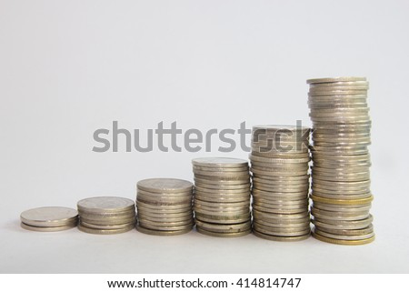 tower coins - stock photo