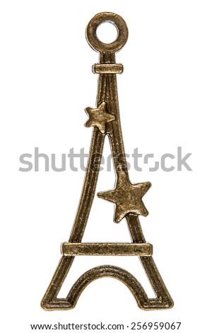Tower, decorative element, isolated on white background - stock photo