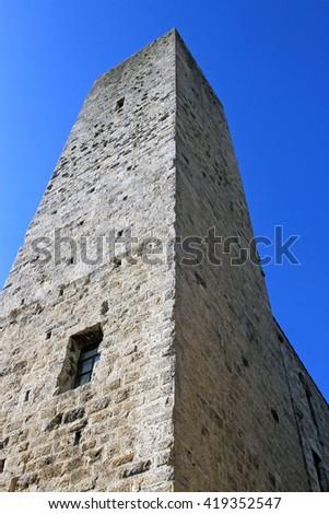 Tower in San Gimignano, Tuscany, Italy - stock photo