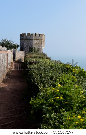 Tower in Torquay, South Devon, Cornwall, England, Europe - stock photo