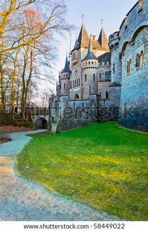 tower of ancient castle Marienburg, Germany - stock photo
