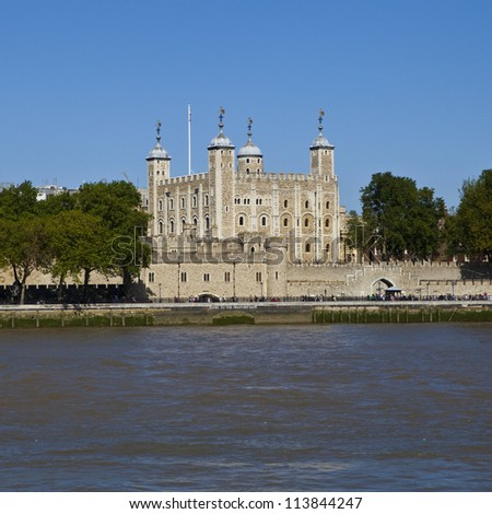 Tower of London in the UK. - stock photo