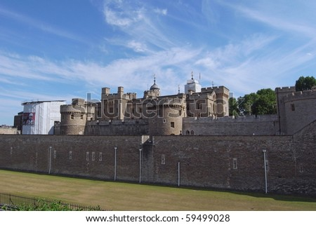 Tower of London, UK  World heritage site - stock photo