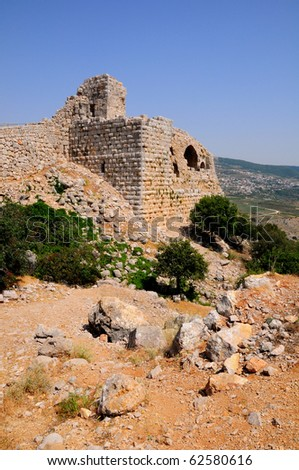 Tower of Nimrod Fortress. Northern Israel. - stock photo