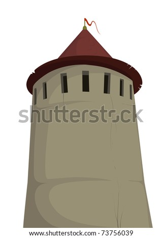 Tower of old fortress - stock photo