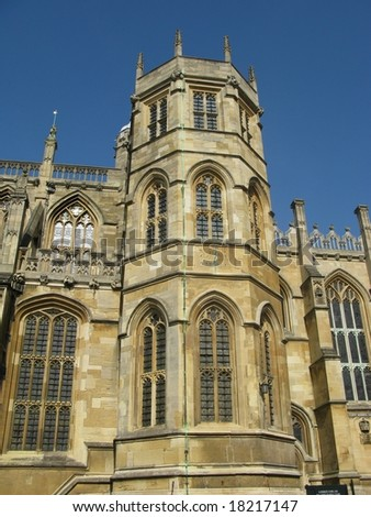 tower of St George's Chapel in Windsor Castle,London - stock photo