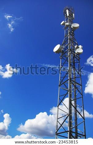 Tower of telecommunications. - stock photo