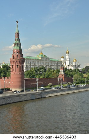 Tower Of The Moscow Kremlin.  - stock photo
