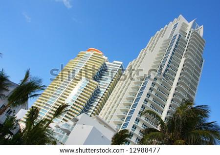 Towering Modern Buildings - stock photo