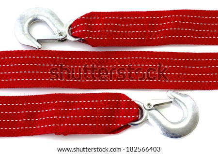 Towing rope isolated - stock photo